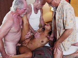 Teen Gangbanged by Grandpas 6 min